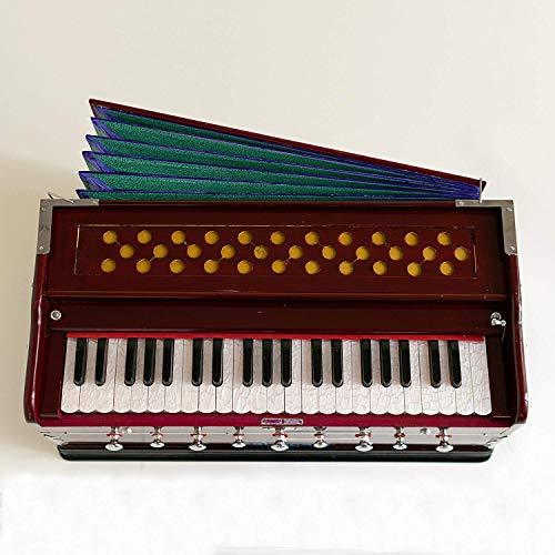 A440 Harmonium-Koppler, doppelter Stimmzapfen, dunkles Mahagoni, Standard-Buch gepolsterte Tasche, Harmonium, indisches Sangeeta