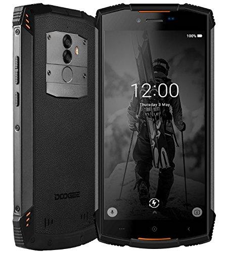 DOOGEE S55 Outdoor Smartphone ohne Vertrag - 5.5 Zoll Android 8.0, IP68 wasserdicht/staubdicht/stoßfest, 5500mAh Akku Schnellladung, Octa Core 4GB + 64GB - Orange