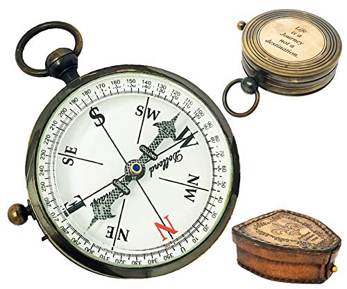 Collectable Brass Compass Dollond London - Compass with fitted Hard-Wood BOX -