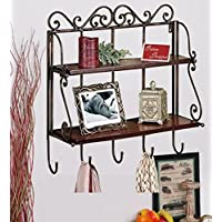 Onlineshoppee Percha Shelf with Hanger (Brown)