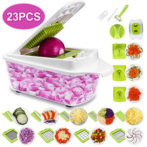Sedhoom 23 Piezas Cortador de Verdura Mandolina de Verduras Multifuncional Mandolina de Cocina Slicer...