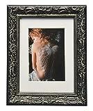WOLTU #167 Bilderrahmen Collage, Holz Rahmen Foto Garlerie, Antik Barock Vintage alt, Schwarz (18x24 cm)