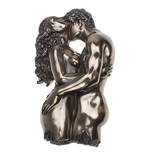 COMLZD® 29,2cm Embrace Nude Skulptur, Bronze Fertig Romantisches die Skulptur erotische Kunst Harz Statuen Decor - Gold-finish-tabelle