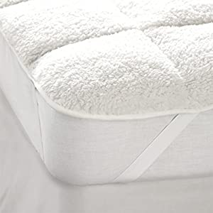 Extra Warm Reversible Teddy Fleece Matress Topper - Double…