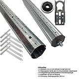 PROHEIM Rolladenmotor Rollladenwellen-Paket SW60 für Rohrmotoren für Alt- und Neubau Stahlwelle Teleskopwelle und Montagezubehör geeignet für Rollläden, Länge:bis 150 cm Vergleich