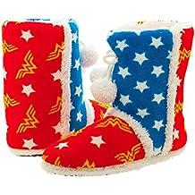 Wonder Woman pantuflas de bota para mujer, diseño de DC Comics, small