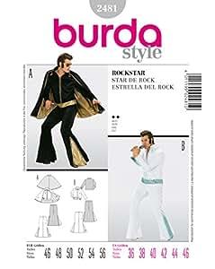 Patron de couture burda 2481 rockstar-elvis presley