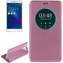 ALSATEK Housse Etui Cuir PU pour ASUS Zenfone 3 Laser ZC551KL Motif Rose Texture Litchi