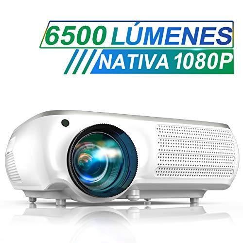 Proyector, TOPTRO 6500 Lúmenes Proyector Cine en Casa Full HD 1080P Nativo...