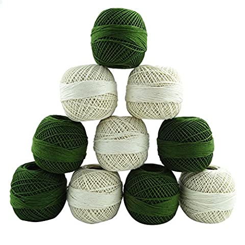 Crochet coton mercerisé Frivolité Fils discussion Artisanat tricoter écheveau 10