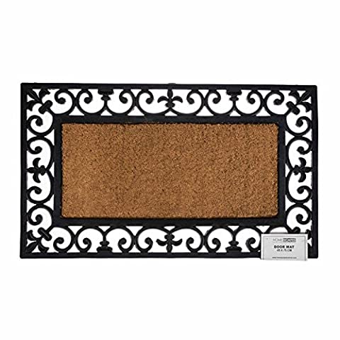 William Armes Wrought Iron effect with coir 75 x 45cm