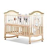 GYH Cuna - Hogar Madera Maciza Sin Pintura Cama para Cuna Cama multifunción para niños recién Nacidos Costura Mesa de Trabajo Variable (#) (Tamaño : 122x71x98cm)
