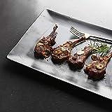 Vajillas elegantes Plato para pizza Platos hondos Placa cerámica placa rectangular placa de carne placa negra mate Plato cuadrado