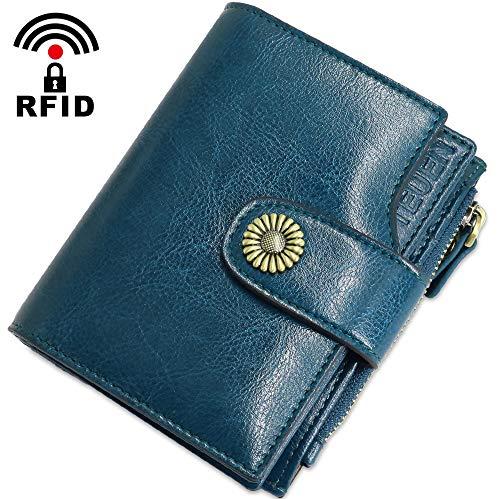Geldbörse Damen Viele Fächer Kleine Echtleder Damen Portemonnaie mit  Reißverschluss 2c02544dbe