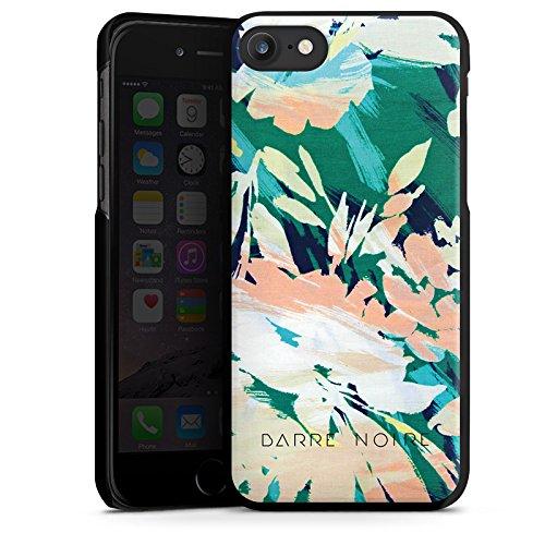 Apple iPhone X Silikon Hülle Case Schutzhülle Blume Muster Blumen Hard Case schwarz