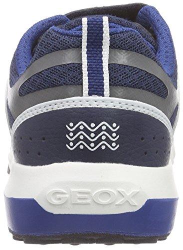 Geox J Asteroid Boy B, Scarpe da Ginnastica Bambino Blu (Navy/Avio)