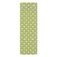 Bilderwelten Coat Rack Wall Wardrobe wall mounted - Retro Pattern Green-Yellow
