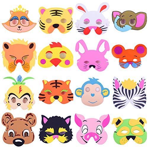 Tier Gesichtsmaske kreative Dress up Maske Tier kostüm Maske lehre Spielzeug für Kinder Kinder (mischfarbe und Muster) ()
