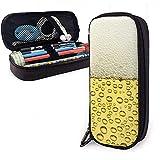 Bier Form PU Leder Federmäppchen, Federbeutel, Durable Stationery Organizers mit Doppelreißverschluss 20 * 9 * 4 cm (8X3.5X1.5 Zoll)