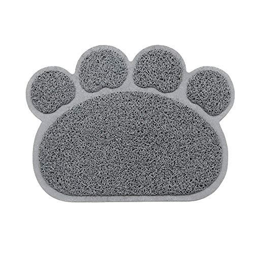 Roblue Tappetino per Lettiera per Cani Gatti Animali di Compagne Forma di Artiglio Tovaglietta in PVC Antiscivolo 30x 40cm