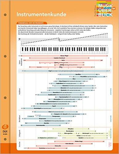 Instrumentenkunde Musik im Überblick: aus der Reihe Musik im Überblick