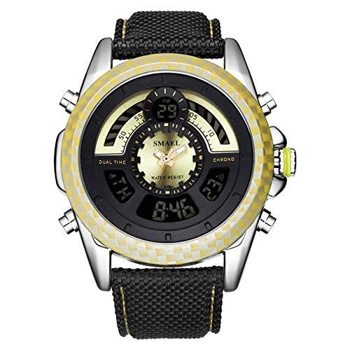 Blisfille Männer Uhr Wasserdicht Wasserdicht Leder Armband Herrenuhr Multifunktional Gold Outdoor Sportuhr Armbanduhr Automatikuhr