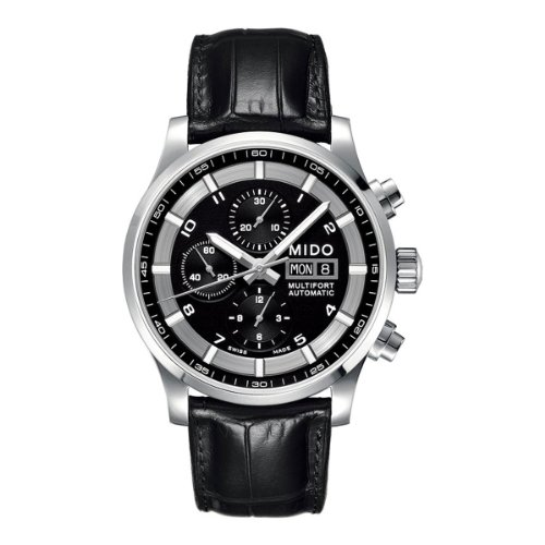 Mido Herren-Armbanduhr XL Multifort Chronograph Automatik Leder M0056141605721