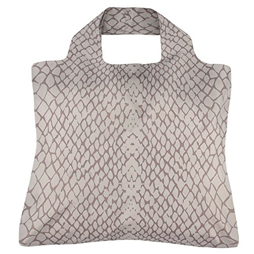 Savanne-Tasche, von Envirosax, graues Schlangenleder-Design (Schlangenleder-tasche)