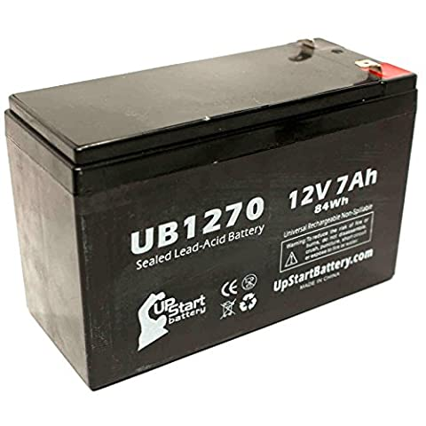 Replacement APC RBC12 Battery - Replacement UB1270 Universal Sealed Lead Acid Battery (12V, 7Ah, 7000mAh, F1 Terminal, AGM, SLA) - Includes TWO F1 to F2 Terminal Adapters