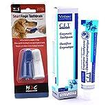 Smart-Fingerzahnbürsten und Zahnpasta für Hunden von Virbac, enzymatische Zahnpasta (Geflügel-Geschmack 70g) mit Smart-Finger-Zahnbürste für Hunde (Doppelpack)