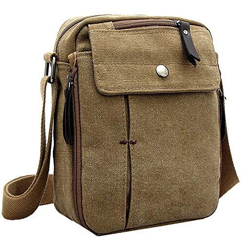 Reisen Gürteltasche Taille Leinwand Messenger Bag Umhängetasche Laptop Tasche Computer Tasche Umhängetasche aus Segeltuch Tasche Arbeiten Tasche Umhängetasche für Männer Herren Leichtgewicht Reise Bum