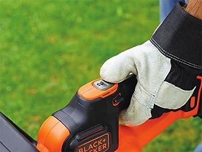 Black + Decker 18 V, 2.0 Ah Akku-Heckenschere mit Cut Antiblockierfunktion inklusiv Schnellladegerät, 50 cm Schwertlänge, 18 mm Schnittstärke, GTC18502PC