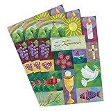 3er Set Glückwunschkarten zur Kommunion von Aurélie Blanz Motiv Symbole