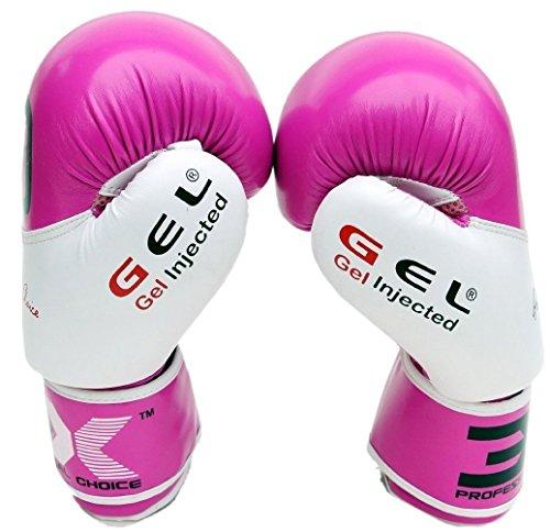 3XSports Boxhandschuhe Trainings Boxing Gloves Sandsackhandschuhe Kickboxhandschuhe (Pink, 12oz)