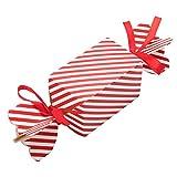 50 cajas de regalo navidad con 100 piezas de cuerda, cajas papel caramelo juego decorativa cajas de dulces, pasteles, galletas, dulces, Cupcakes, Candy y hecho a mano bebé de cajas de regalo(Large)