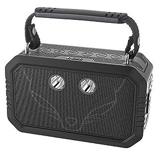 DOSS Traveler Bluetooth Lautsprecher mit 20W Stereo Sound und Dual-Treiber besserem Bass IPX6 Wasserdicht Drahtlos Soundbox mit Mikrofon 12 St Spielzeit [Schwarz]