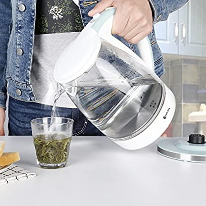 Wasserkocher-Glas-Wei-mit-LED-Beleuchtung-CookJoy-BPA-Frei-Elektrischer-Wasserkocher-mit-Abnehmbarem-Teesieb-18L-2200W-Trockengehschutz-Automatische-Abschaltung