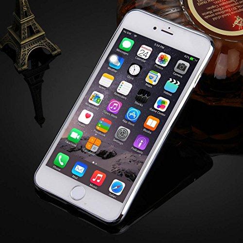 Phone case & Hülle Für iPhone 6 / 6s, Galvanisierungsspiegel TPU Schutzhülle ( Color : Silver ) Silver
