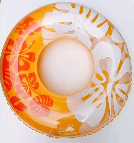 Schwimmring, 90cm, transparent, aufblasbar, Wasserspielzeug für Erwachsene Orange
