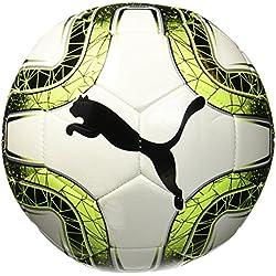 Puma FINAL 6 MS Trainer, Ballon De Foot Mixte Adulte, Puma White-Lemon Tonic-Puma Black, 5