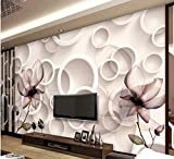 BHXINGMU Benutzerdefinierte Fototapeten Magnolie Hotel Tapete Große Wanddekoration 320Cm(H)×450Cm(W)