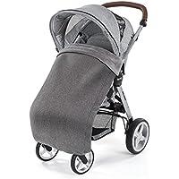 Manta térmica impermeable con forro polar para cochecitos y sillas de paseo. Resistente al agua y al viento, transpirable - 100 x 70 cm - Color gris