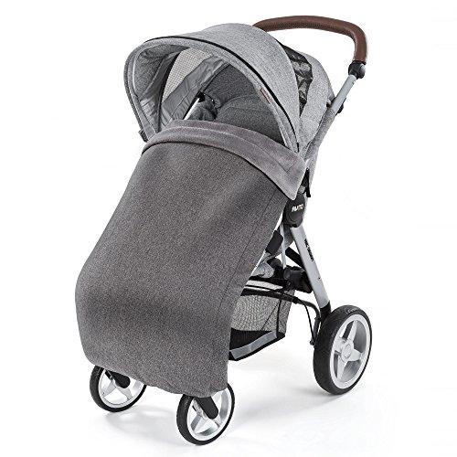 Laloona Wetterfeste Thermo-Fleece Babydecke für Kinderwagen, Buggys & Sportwagen, wasser- und windabweisend, atmungsaktiv - 100 x 70 cm - Melange Grey
