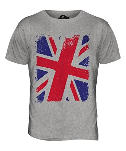 CandyMix Großbritannien Union Jack Herren T Shirt Grau Meliert