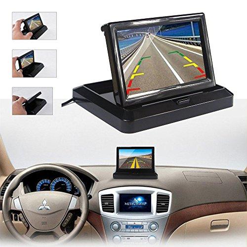 Dax-Hub TFT LCD ad alta risoluzione Video sensore di parcheggio di retrovisione Car System Backup Inversione Rilevatore di veicoli Monitor con fotocamera impermeabile LCD Monitor dinversione di soste 5Monitor parcheggio + Telecamera