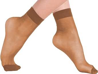 VCA®-Lotto di 10, 15o 20paia di calzini con bordo comfort,20denari,colore: nero/carne