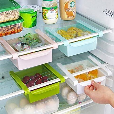 BESTOMZ Glissez la cuisine réfrigérateur congélateur Space Saver organisateur tiroir support boîte de rangement (Chaque paquet contient un seul