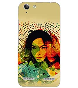 PrintDhaba PATTERN GIRL D-6132 Back Case Cover for LENOVO VIBE K5 (Multi-Coloured)
