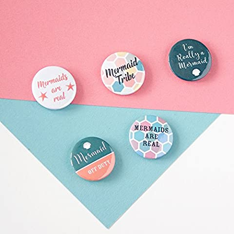 Mermaid badges, Mermaid Gift, buttons, Mermaid Tribe, Off Duty, Stocking Filler for Girls