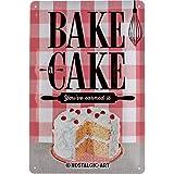 Nostalgic-Art 22262 Home & Country - Bake A Cake, Blechschild 20x30 cm